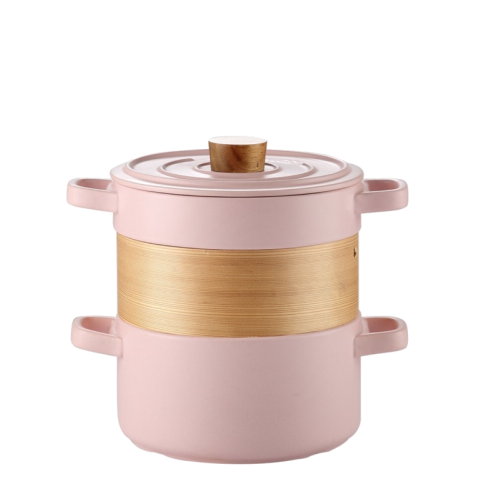 pink color 3 in 1 ceramic steamer