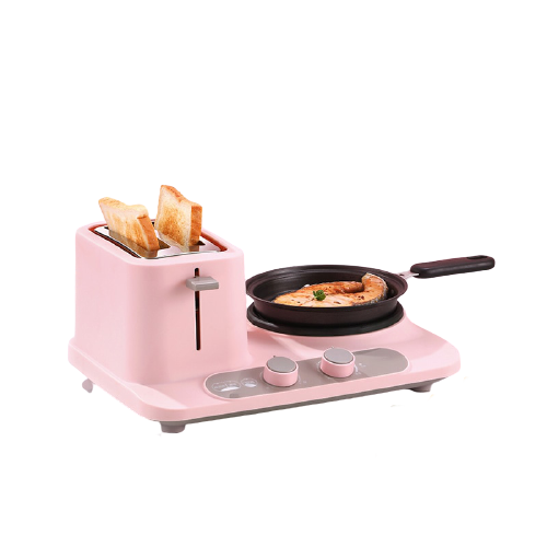 3 in 1 pink mini breakfast cooker