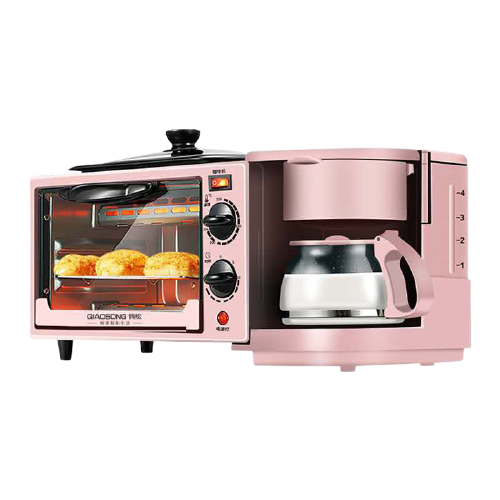 3 in 1 pink oven and coffee maker