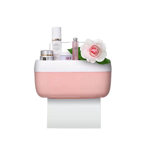 pink bathroom tissue holder