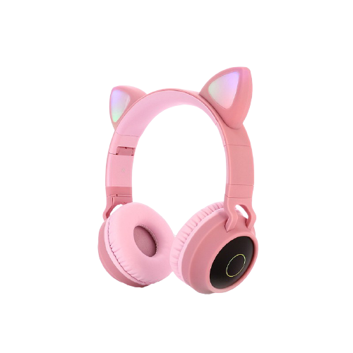 gblife pink cat ear headphone