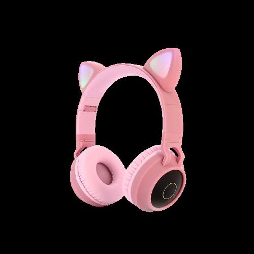 gblife pink cat ear headphone