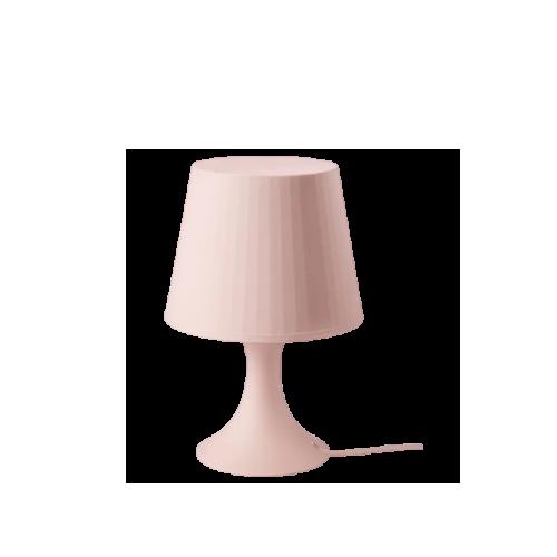 ikea lampan pink table lamp