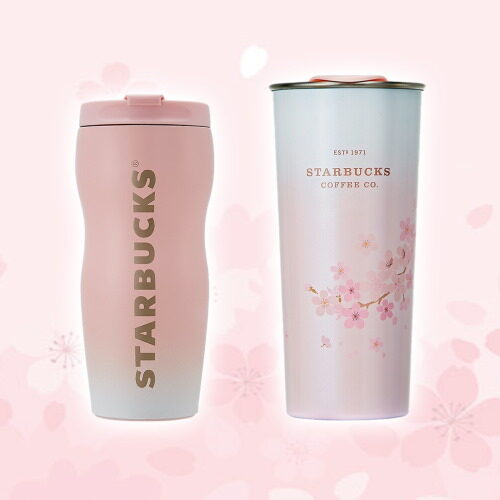 korean starbucks limited edition tumblers pink color