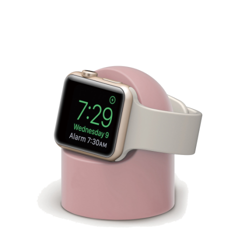 pink apple watch charging stand