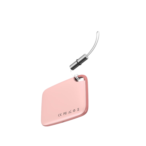 pink baseus anti lock bluetooth tracker