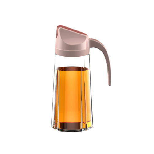 pink glass cooking oil dispenser