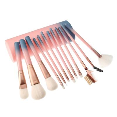pink gradient makeup brush set
