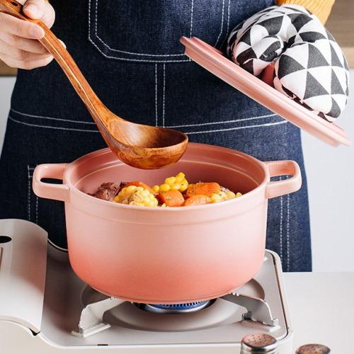pink korean ceramic pot