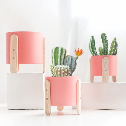pink korean style plant pot