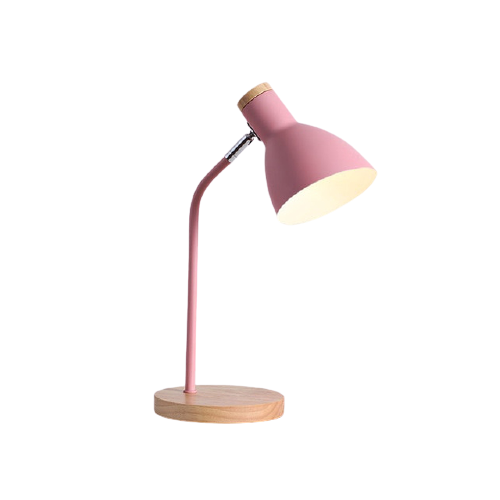 pink metal nordic desk lamp