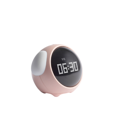pink multifunction digital alarm clock