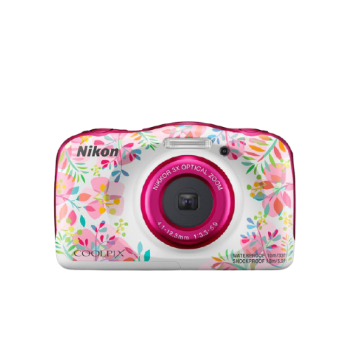 pink nikon coolpix w150 flower
