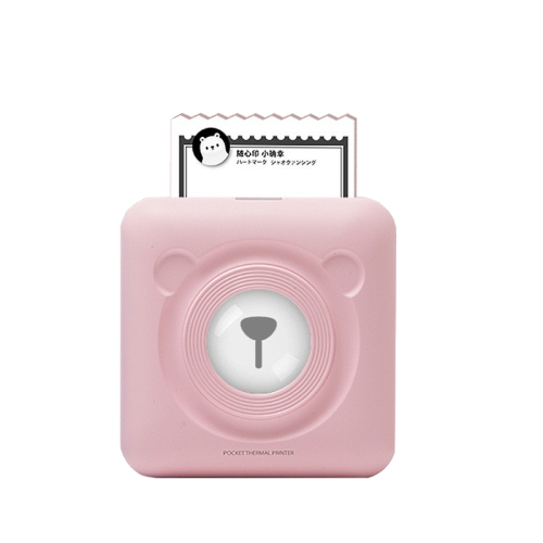 pink portable thermal printer