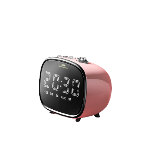 pink remax bluetooth speaker with LED display