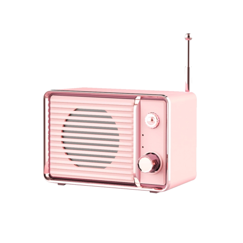 pink retro bluetooth speaker