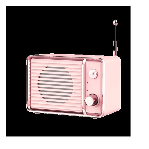 pink retro bluetooth speaker