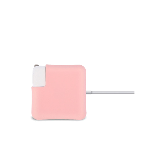 pink silicon cover for macbook adapter