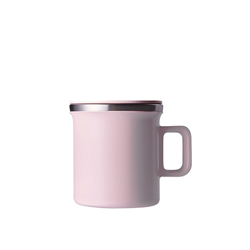 pink stainless steel mug