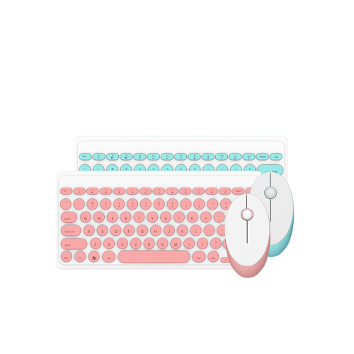 pink wireless bluetooth keyboard with mouse
