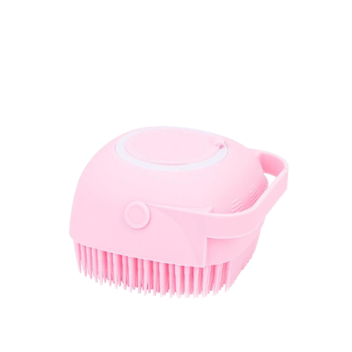 soft silicon bath body brush pink color