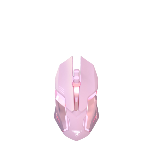 pink wireless bluetooth gaming mouse